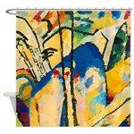 Abstract Triangles After Kandinsky Shower Curtain