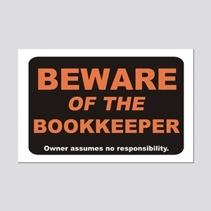 Beware / Bookkeeper Mini Poster Print