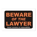 Beware / Lawyer Postcards (Package of 8)