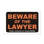 Beware / Lawyer Mini Poster Print