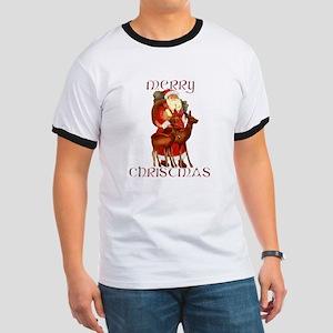 Santa and Reindeer design T-Shirt