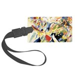 Abstract Triangles After Kandinsky Luggage Tag