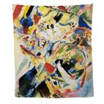 Abstract Triangles After Kandinsky Wall Tapestry