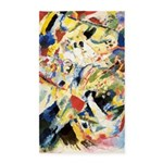 Abstract Triangles After Kandinsky Area Rug