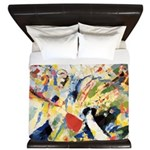 Abstract Triangles After Kandinsky King Duvet