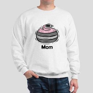 Curling Curler Curl Mom Sweatshirt