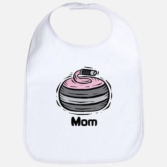 Curling Curler Curl Mom Bib