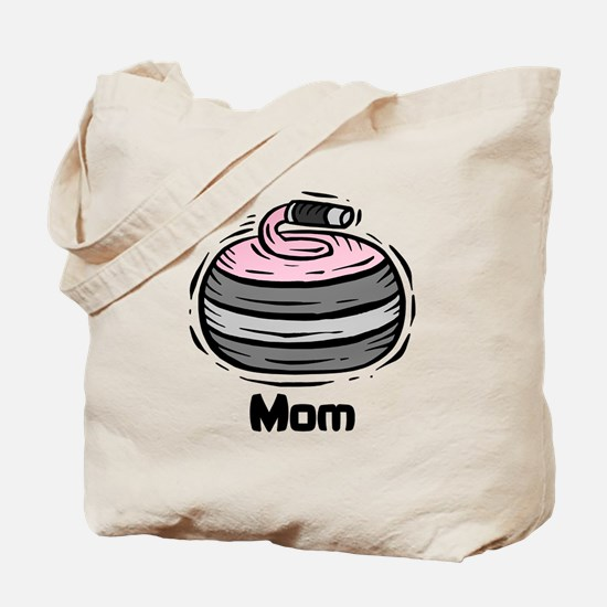 Curling Curler Curl Mom Tote Bag