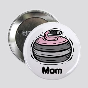 """Curling Curler Curl Mom 2.25"""" Button"""