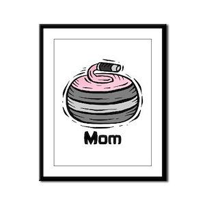 Curling Curler Curl Mom Framed Panel Print