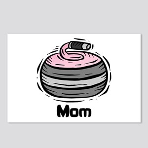 Curling Curler Curl Mom Postcards (Package of 8)