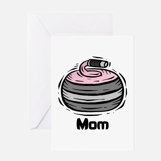 Curling Curler Curl Mom Greeting Card