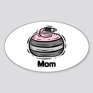 Curling Curler Curl Mom Oval Sticker