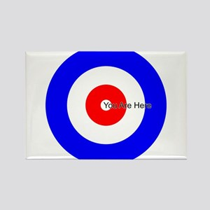 You Are Here Curling House Rectangle Magnet