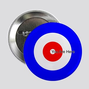 """You Are Here Curling House 2.25"""" Button"""