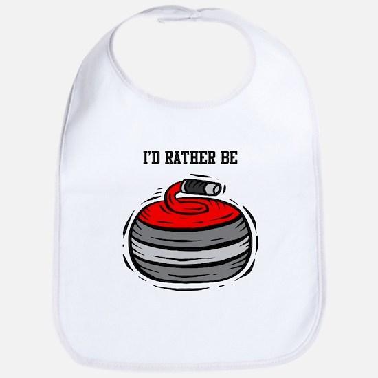 Rather Be Curling Bib