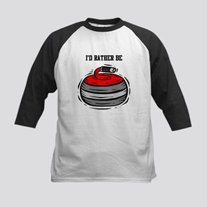 Rather Be Curling Kids Baseball Jersey