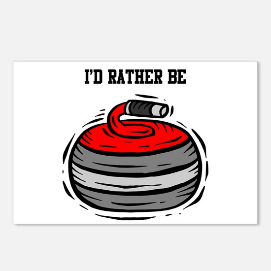 Rather Be Curling Postcards (Package of 8)