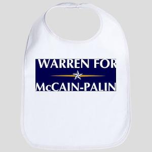 WARREN for McCain-Palin Bib