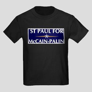 ST PAUL for McCain-Palin Kids Dark T-Shirt
