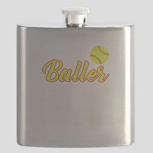 Just A Baller From Louisiana Flask