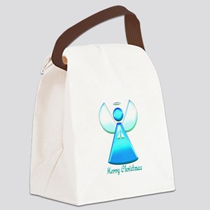 Praying Christmas Angel Abstract Canvas Lunch Bag