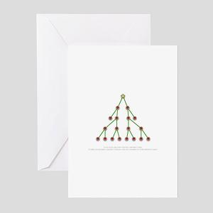 Binary Christmas Tree Greeting Cards (Pk of 20)