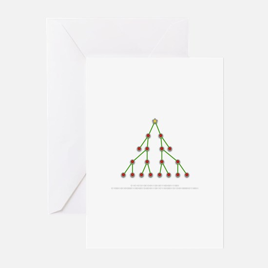 Binary Christmas Tree Greeting Cards (Pk of 20)