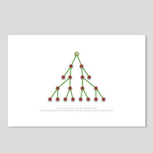 Binary Christmas Tree Postcards (Package of 8)
