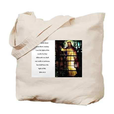Jesus Light of the World Tote Bag