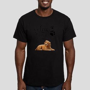 love is a four legged Men's Fitted T-Shirt (dark)