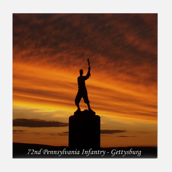 72nd PA Inf. Gettysburg Tile Coaster