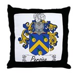 Persico Family Crest Throw Pillow
