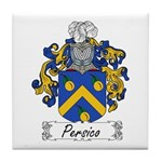 Persico Family Crest Tile Coaster