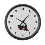 Train Large Wall Clock