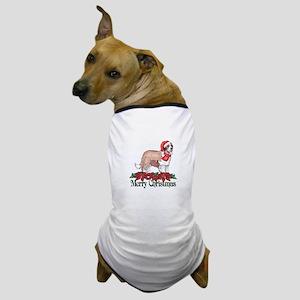 Poinsettia St Bernard Dog T-Shirt