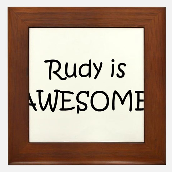 Cool Rudy Framed Tile