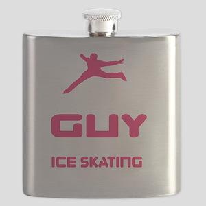 Lovely Gift Ice Skating Tshirt Design Cares Flask
