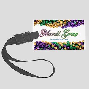 Mardi Gras beads Luggage Tag
