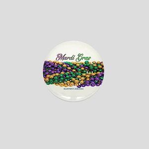 Mardi Gras beads Mini Button