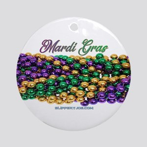Mardi Gras beads Round Ornament