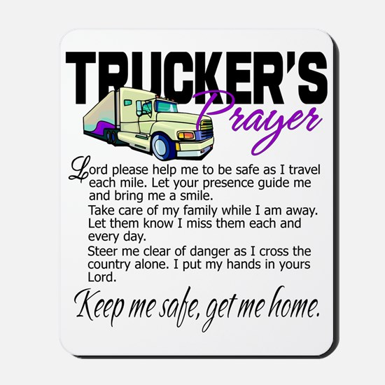 Trucker's Prayer Mousepad