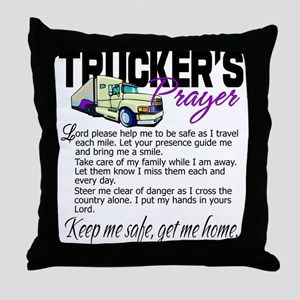 Trucker's Prayer Throw Pillow