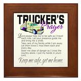Truckers prayer Framed Tiles