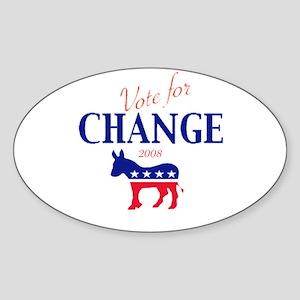 Vote for Change Oval Sticker
