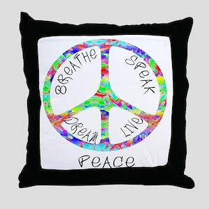 Live Peace Throw Pillow