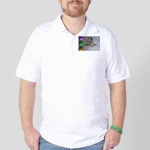 Mardi Gras mask Golf Shirt