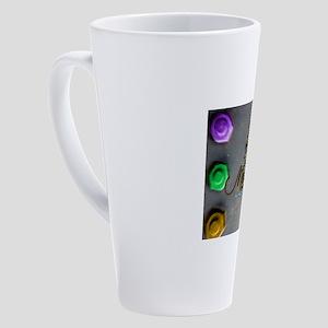 Mardi Gras mask 17 oz Latte Mug