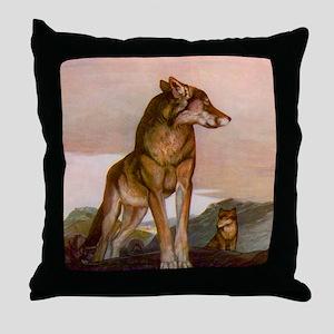 Akela the Lone Wolf Throw Pillow