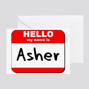 Hello my name is Asher Greeting Card